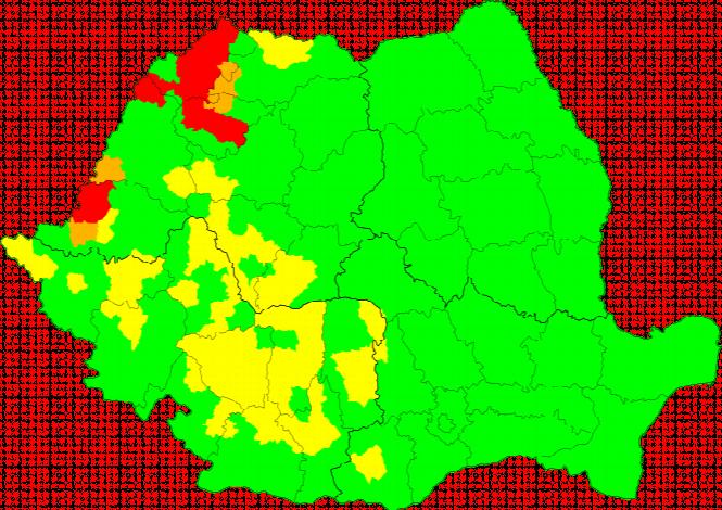 Aktuelle Unwetterkarte România