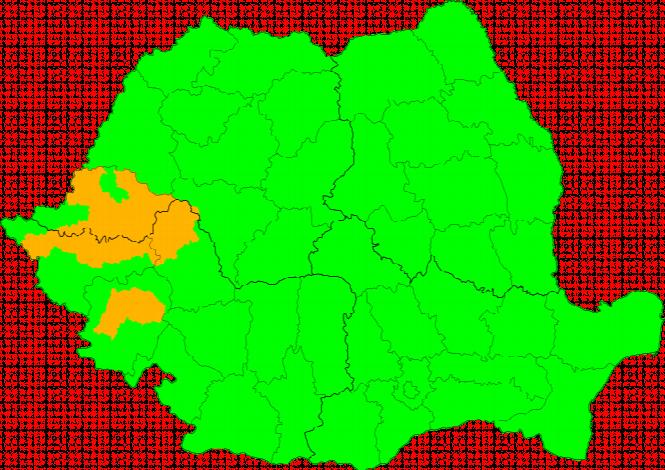 Aktuelle Unwetterwarnungen România